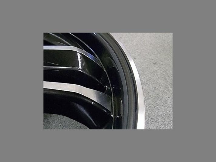 Black rim + polish line リム部アップ