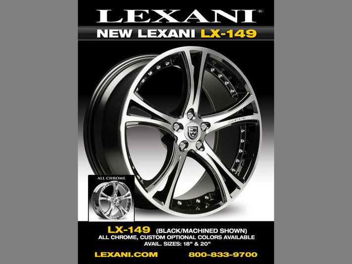 LEXANI LX-14918/20incベースカラーはブラックマシーンorクロームの設定です。