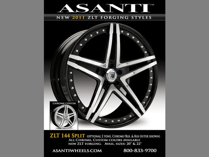 ASANTI AF144 ZLT SPLIT(Zero Lip Technology) 20/22inc