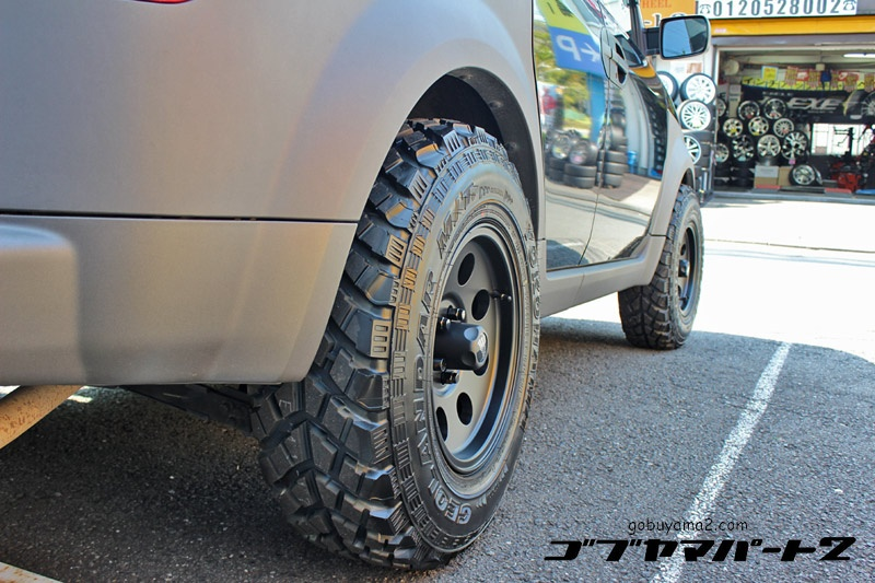 Honda Ellementホイール:American Racing AR172 Baja Satin Black 15x8 5-114.3 +20タイヤ:Geolander M/T 30x9.50R15Special Thanks:Gobuyama Part2