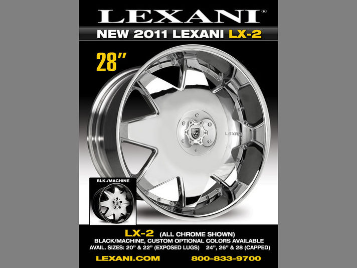 LEXANI LX-2 20/22/24/26/28inc (20/22incはオープンホールデザイン)ベースカラーはブラックマシーンorクロームの設定です。