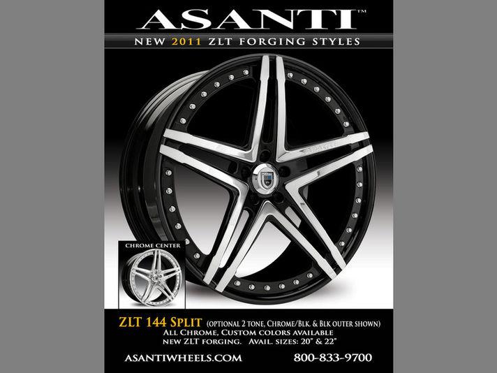 ASANTI AF144 ZLT SPLIT(Zero Lip Technology) 20/22inc