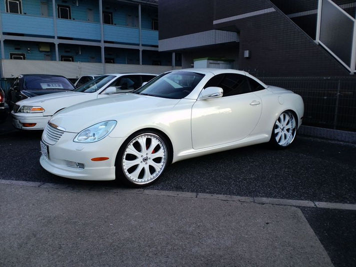 Lexus SC430 with AF131 White Painted Center 22inch  Special Thanks:NICHIYO