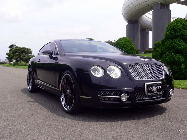 Bentley Continental GT with AF142 Black/Chrome Two-tone 22inch    Special Thanks:Fantasy