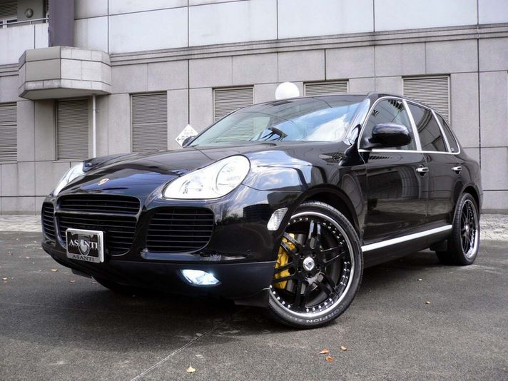 Porsche Cayenne with AF116 Black Painted Center 22inch    Special Thanks:Fantasy