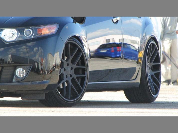09 ACURA TSXサイズ:20x8.5+45 / 20x9.5+40 (車高調整/ツメ加工必要)カラー:フラットブラック/グロスブラックリムSpecial Thanks≫新潟県Y様 ACURA TSX