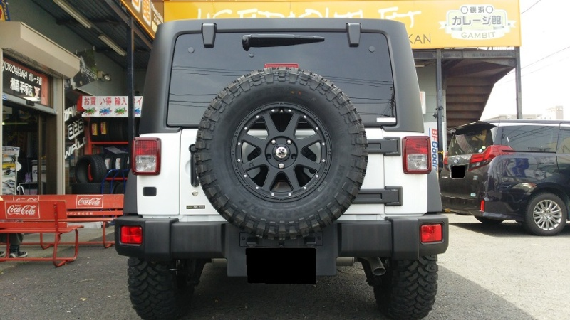 JeepラングラーXtreme-J 17x7.5 5-127 +40 MULTIRAC M/T 285/70R17 Special Thanks:横浜ガレージ館 湘南平塚店