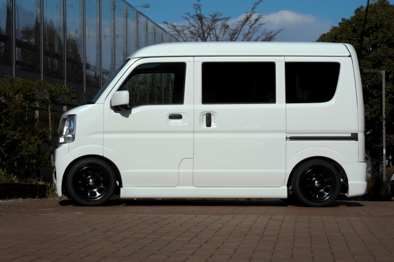 SUZUKIエヴリィ Bubryカスタムホイール:1450 4-100 +42Special Thanks:T Style Auto Sales