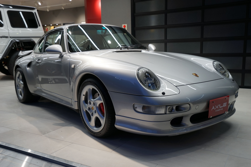 ポルシェ 911(Type993) カレラS ターボS用サイドエアーダクト&ウィング付ワイドボディ 走行2万km台 取説/保証書/記録簿有り--
